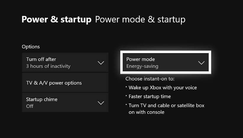 xbox one wont turn on power and start up mode