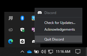 Discord Stuck On Connecting Quit discord