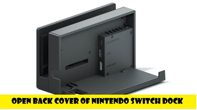 open back cover of nintendo switch