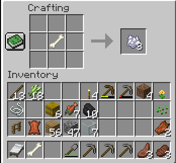 how-to-Make-White-dye-in-minecraft-make-bonemeal