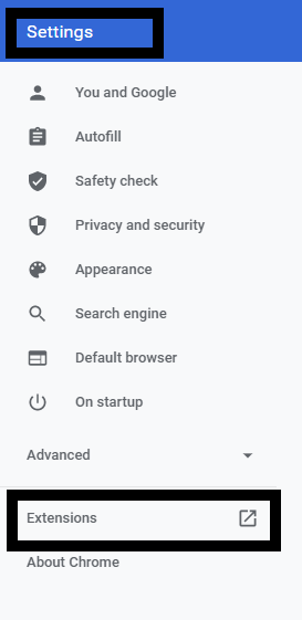 Roblox Google extension settings
