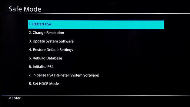 initialize ps4 in safe mode thecpuguide