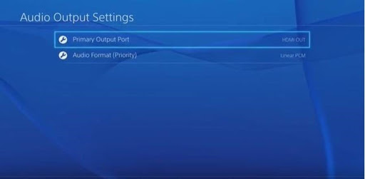 discord on ps4 audio port settings