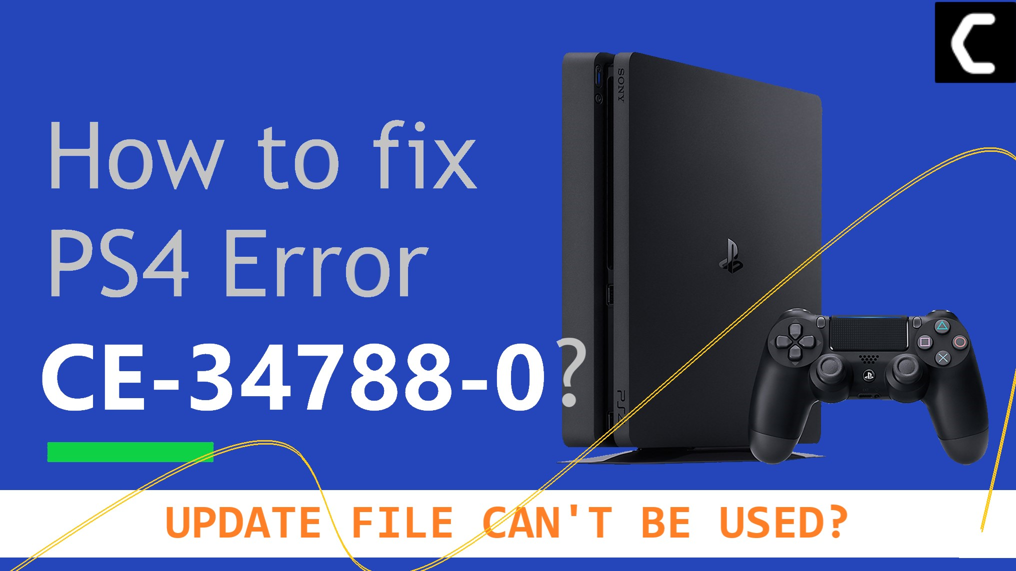 PS4 Error CE-34788-0 – Update File Cannot Be Used