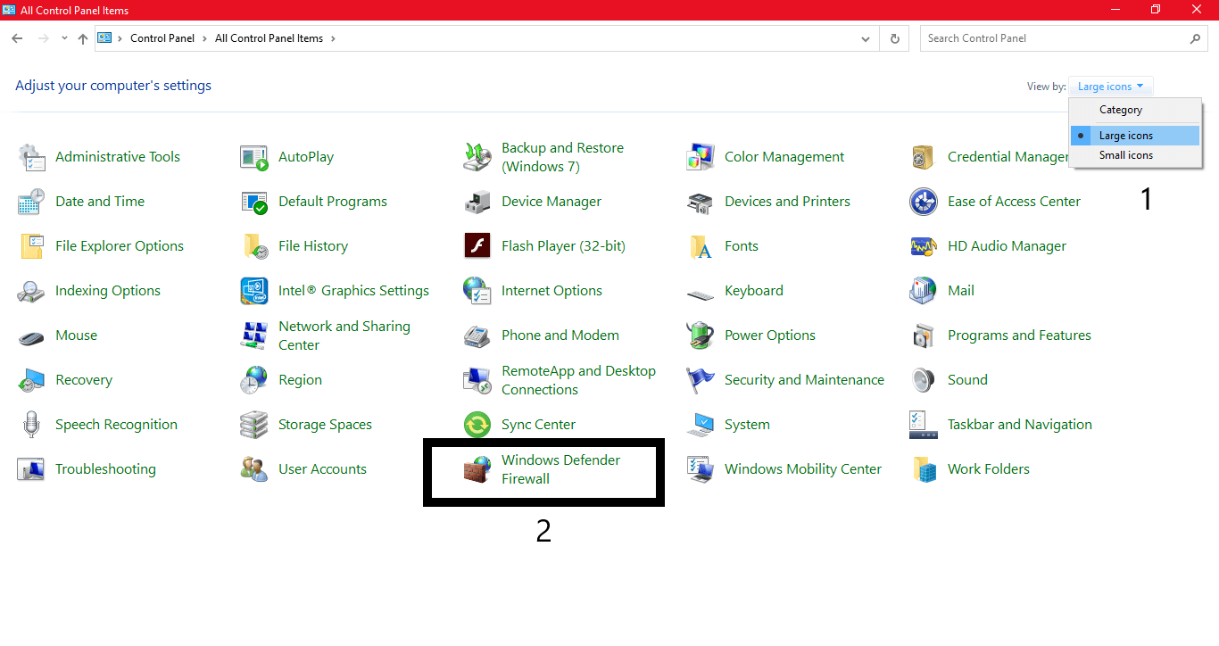 Change the computer Windows Firewall settings for Spotify stuck on Waiting to Download