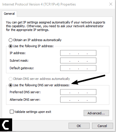 Change DNS Settings to Fix Spotify No Internet Connection Error