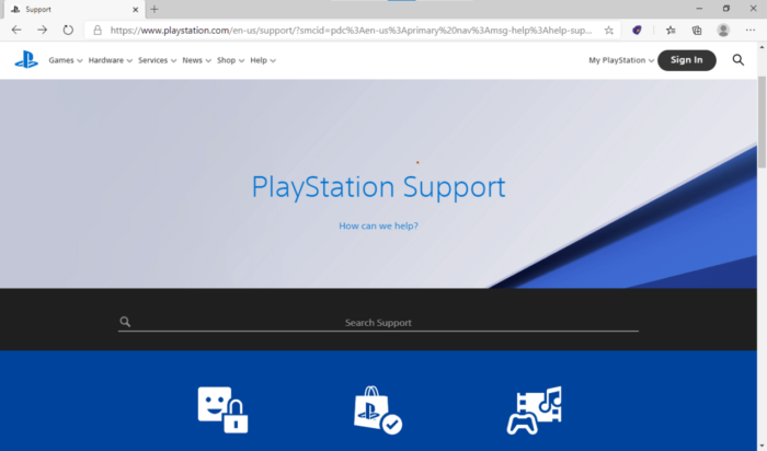 ps5 support
