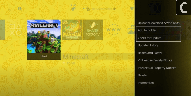 delete minecraft to fix minecraft ps4 not loading issue