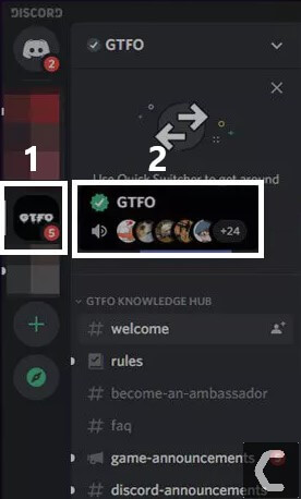 how to leave discord server