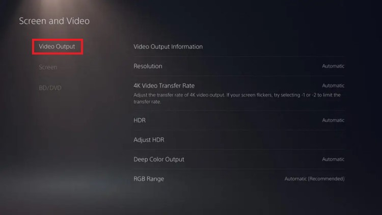 ps5-screen-flickering-screen-and-video-4k-video-transfer-rate