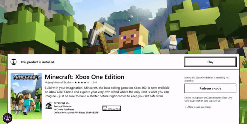 download the Minecraft Xbox one edition