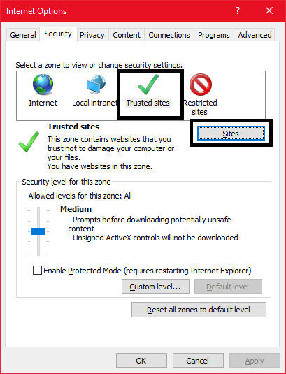 Check Your browser security settings for Roblox Loading Screen Error