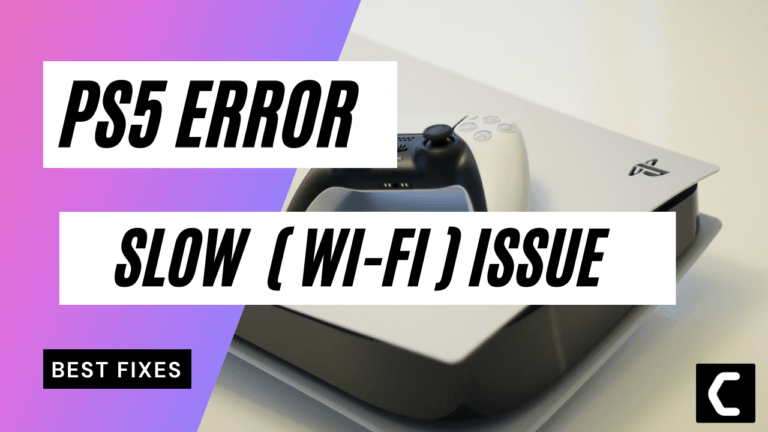 PS5 Slow Wi-Fi Issue? Slow Internet Issues? Wi-Fi Lag