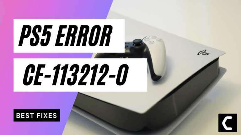 PS5 Error Code CE-113212-0? Server Connection Issues?