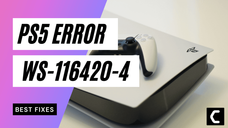 How To Fix PS5 WS-116439-4 Error Code? Unable to connect to server?