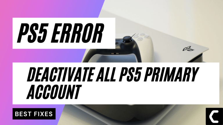 How to Deactivate PS5 As Primary? Change PS5 Primary Account?