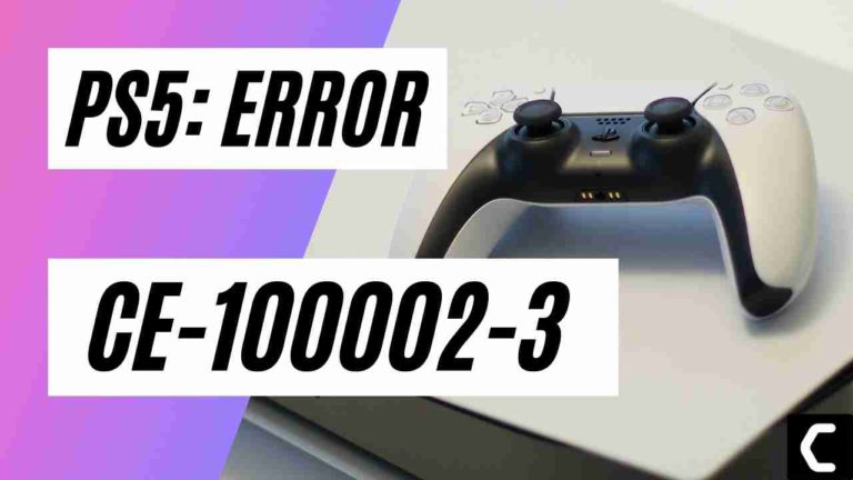 """PS5 Error Code CE-100002-3? """"Failed to update the application""""?"""