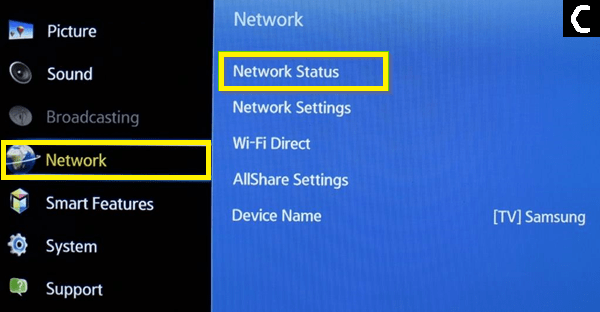 Network status Netflix Audio Out of Sync