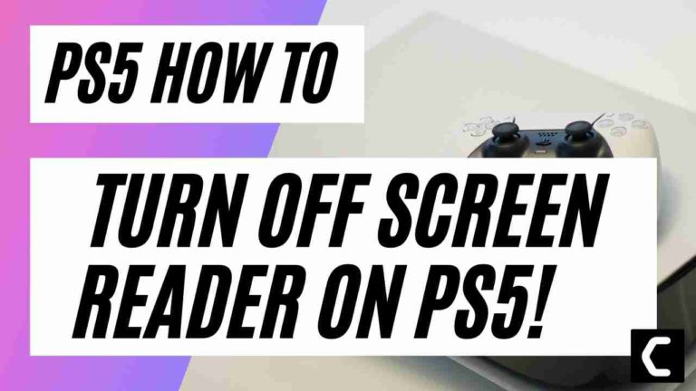 How To Turn Off Screen Reader On PS5? PS5 Accessibility Settings