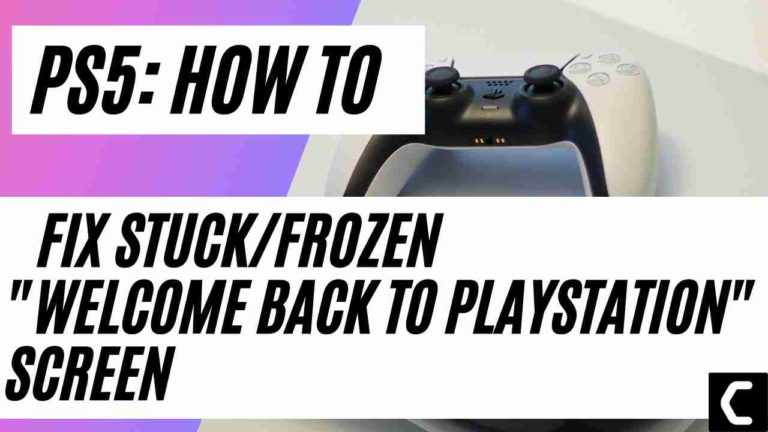 """How To Fix Stuck/Frozen """"Welcome Back To PlayStation"""" Screen PS5"""