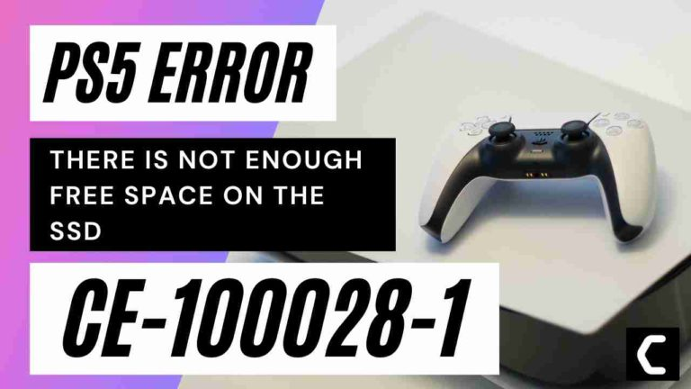PS5 Error CE-100028-1? There Is Not Enough Free Space On The SSD?