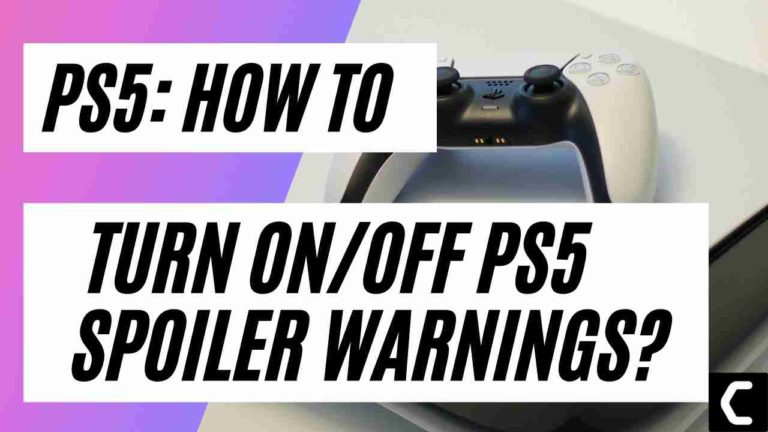 How to Turn On/Off PS5 Spoiler Warnings?