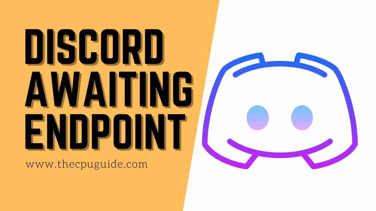 Discord Awaiting Endpoint? How to fix awaiting endpoint Discord?