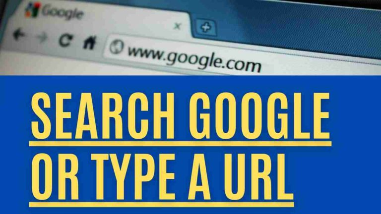 Search Google or Type a URL? Search or Type Web Address?