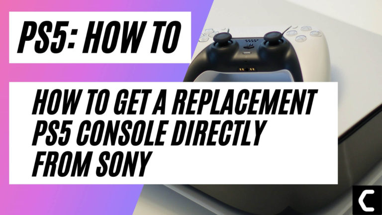 How To Get A Replacement PS5 Console Directly From Sony