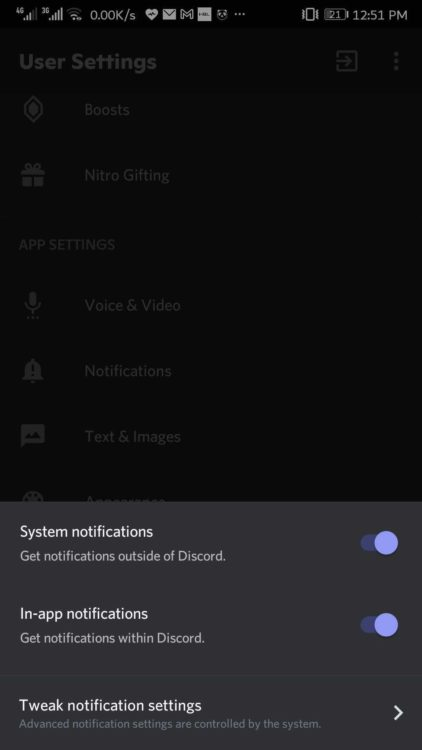 discord not getting notifications