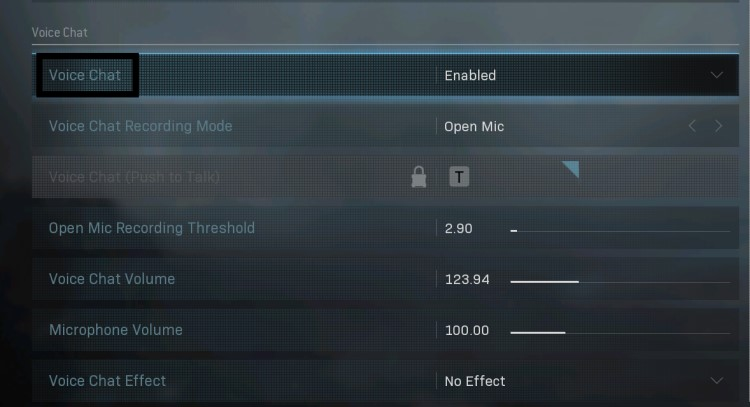 How do I Activate Voice Chat in Modern Warfare