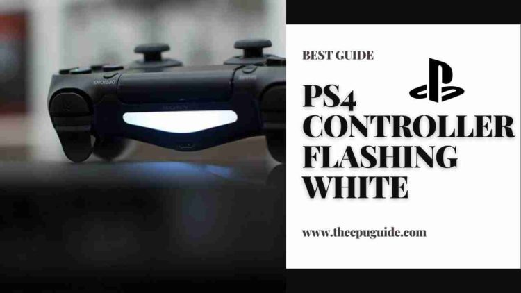 PS4 Controller FLASHING WHITE? White PS4 Controller?