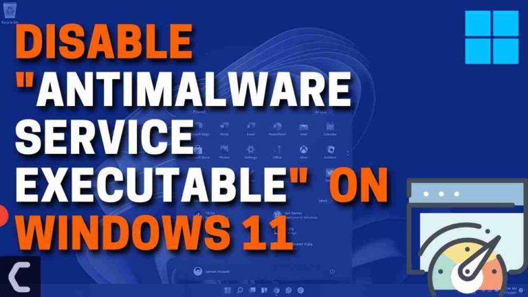 """How to Stop """"Antimalware Service Executable"""" from Using CPU Resources on Windows 11?"""