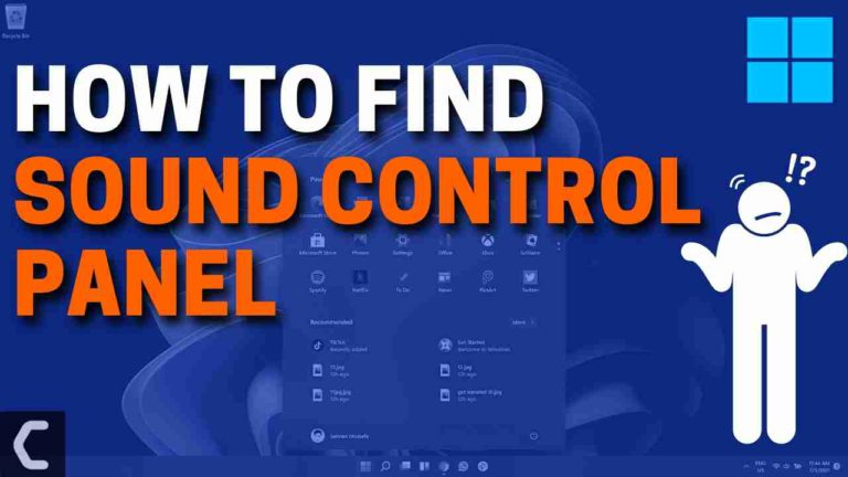 How to Find Sound Control Panel in Windows 11?