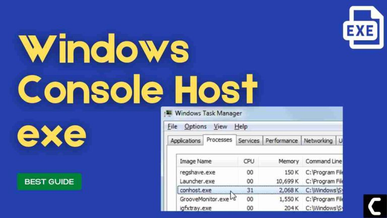 FIX: Console Windows Host High Memory Usage? What is Conhost.exe?