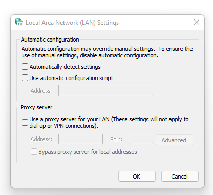 LAN Setting ERR_CONNECTION_TIMED_OUT err_timed_out